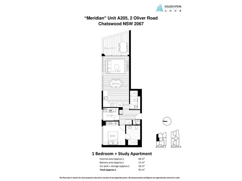 A205/2 Oliver Road, Chatswood, NSW 2067 - floorplan