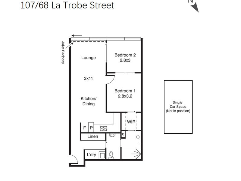 107/68-86 La Trobe Street, Melbourne, Vic 3000 - floorplan
