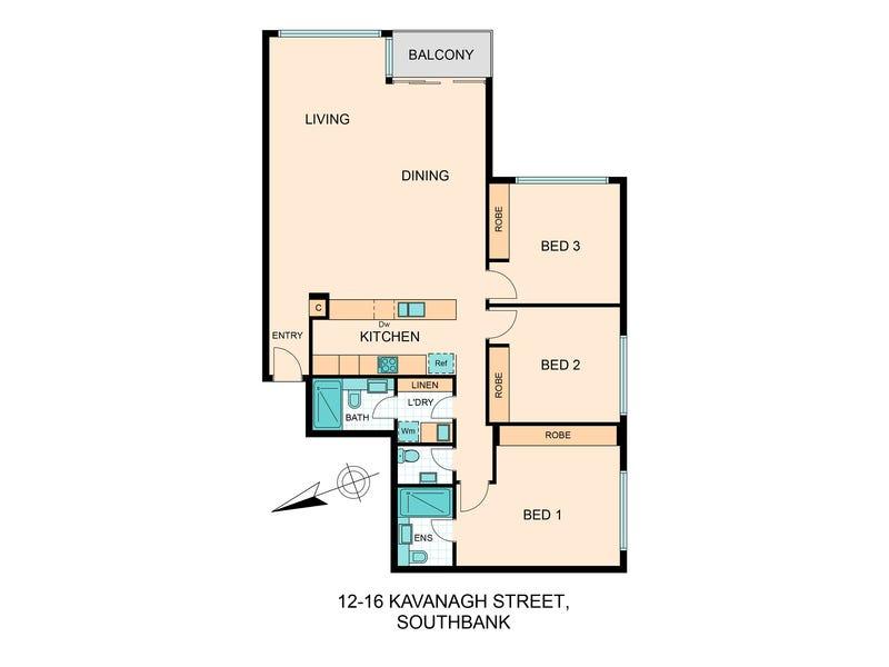 12-14 Kavanagh St, Southbank, Vic 3006 - floorplan
