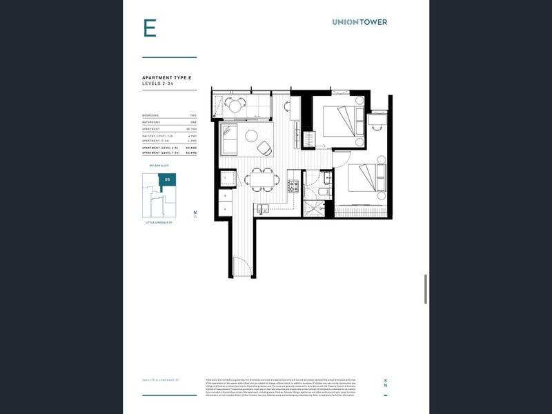 1705/296 Little Lonsdale Street, Melbourne, Vic 3000 - floorplan