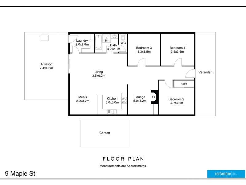 9 Maple Street, Shepparton, Vic 3630 - floorplan