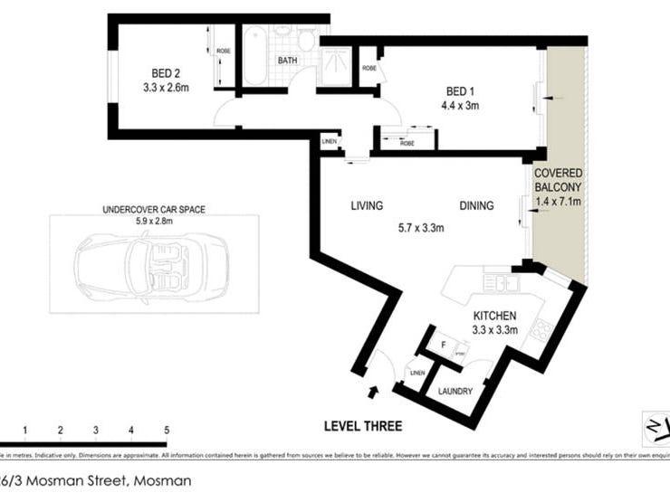 26/3 Mosman Street, Mosman, NSW 2088 - floorplan