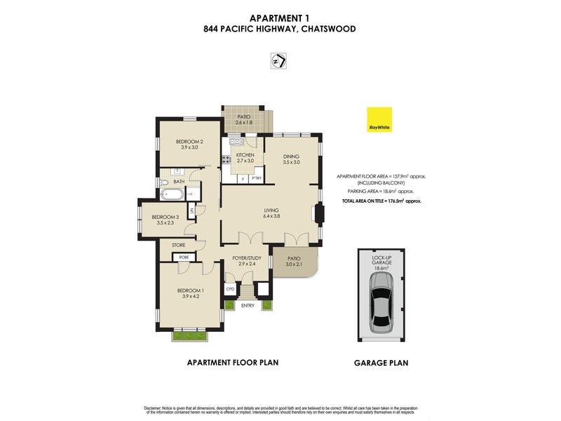 1/844 Pacific Highway, Chatswood, NSW 2067 - floorplan