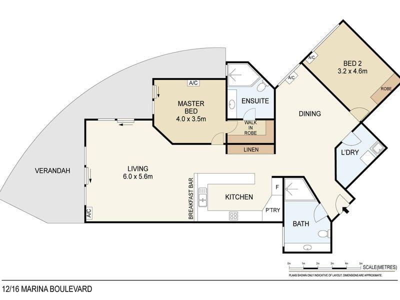 12/16 Marina Boulevard, Cullen Bay, NT 0820 - floorplan