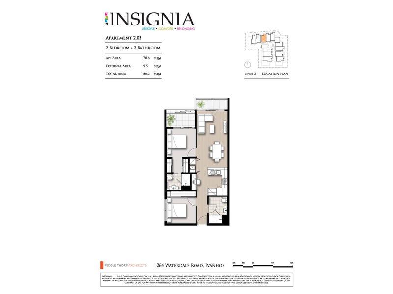 203/264 Waterdale Road, Ivanhoe, Vic 3079 - floorplan