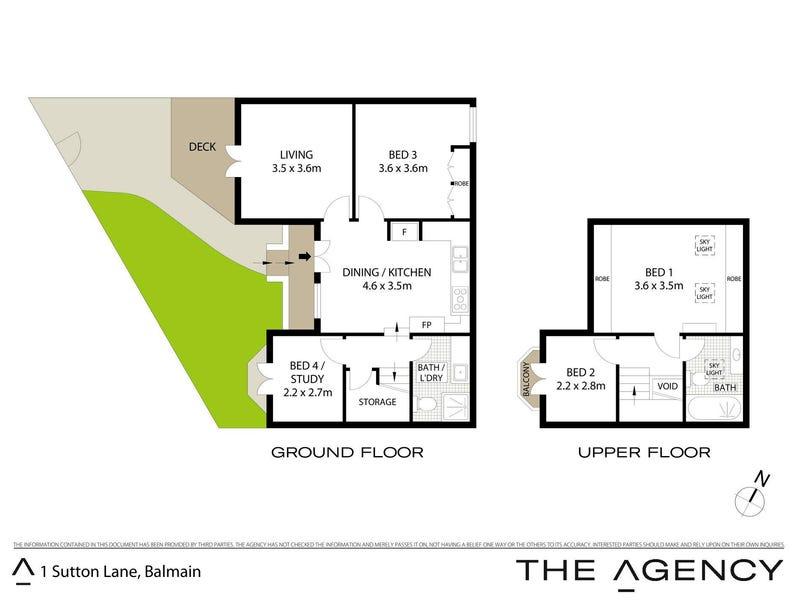 1 Sutton Lane, Balmain, NSW 2041 - floorplan