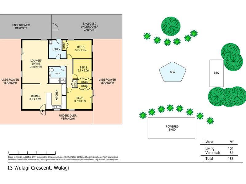 13 Wulagi Crescent, Wulagi, NT 0812 - floorplan