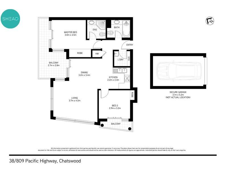 38/809 Pacific Highway, Chatswood, NSW 2067 - floorplan