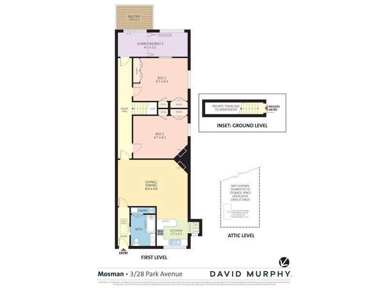 3/28 Park Avenue, Mosman, NSW 2088 - floorplan