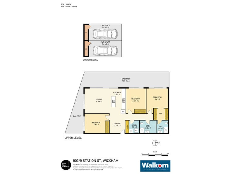 902/9 Station Street, Wickham, NSW 2293 - floorplan