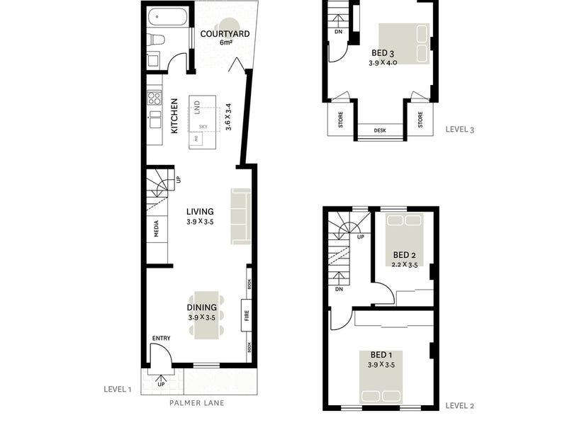 16 Palmer Lane, Darlinghurst, NSW 2010 - floorplan