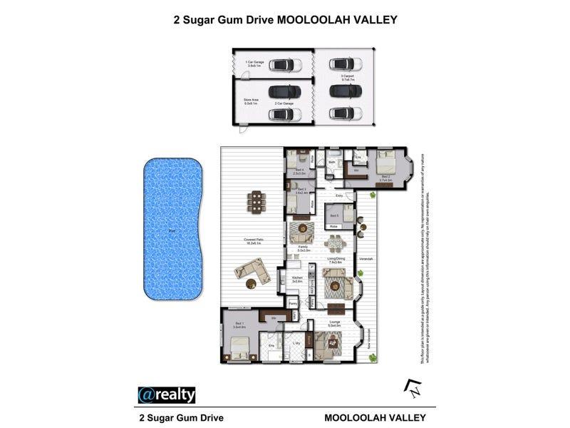 2 Sugar Gum Drive, Mooloolah Valley, Qld 4553 - floorplan