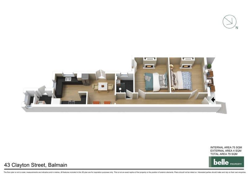 43 Clayton Street, Balmain, NSW 2041 - floorplan