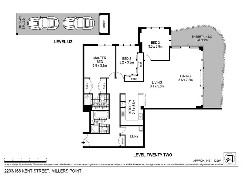 2203/168 Kent Street, Sydney, NSW 2000 - floorplan