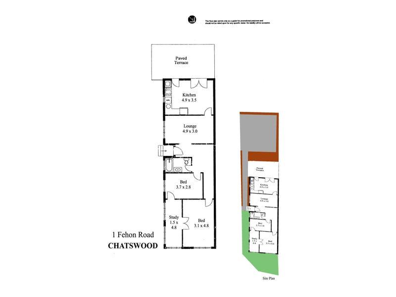 1 Fehon Road, Chatswood, NSW 2067 - floorplan