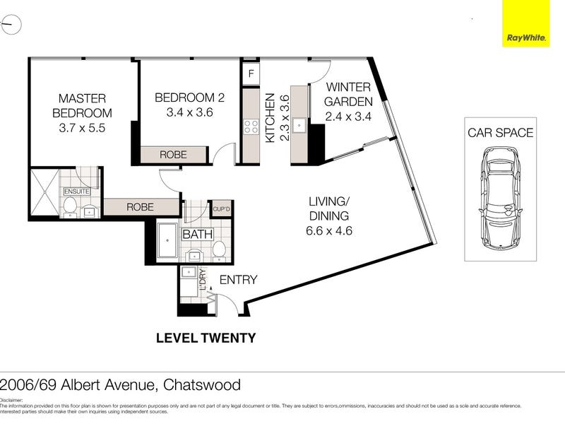 2006/69 Albert Avenue, Chatswood, NSW 2067 - floorplan