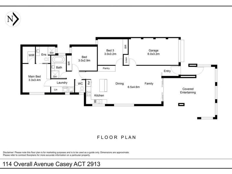 114 Overall Avenue, Casey, ACT 2913 - floorplan