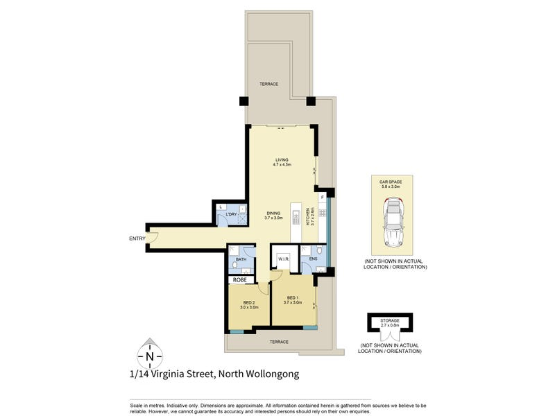 1/14 Virginia Street, North Wollongong, NSW 2500 - floorplan