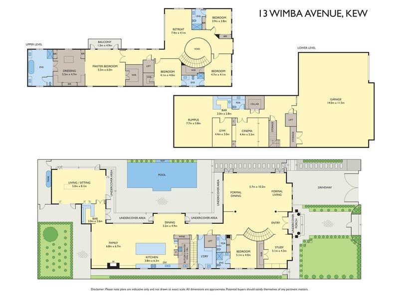 13 Wimba Avenue, Kew, Vic 3101 - floorplan