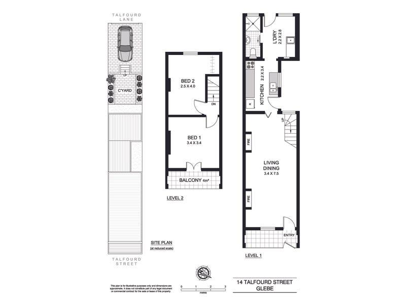 14 Talfourd Street, Glebe, NSW 2037 - floorplan