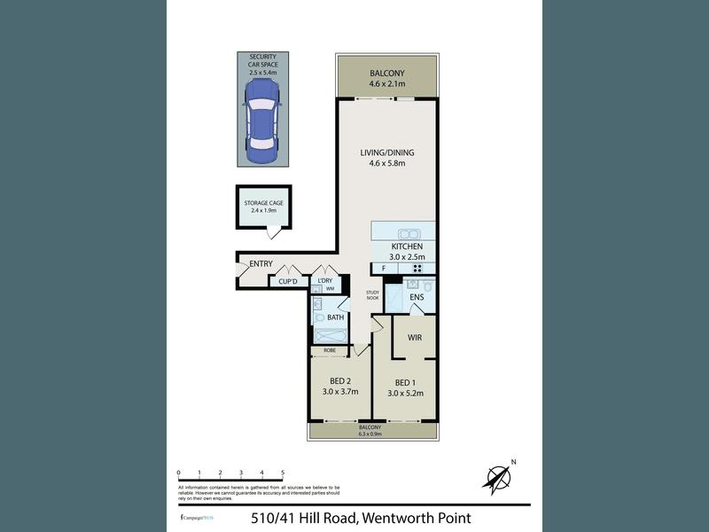 510/41 Hill Rd, Wentworth Point, NSW 2127 - floorplan
