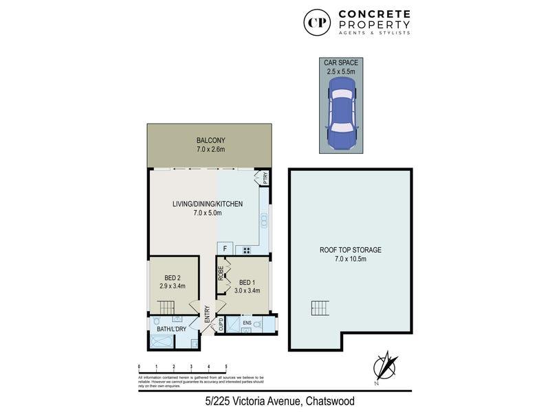 5/225 Victoria Ave, Chatswood, NSW 2067 - floorplan