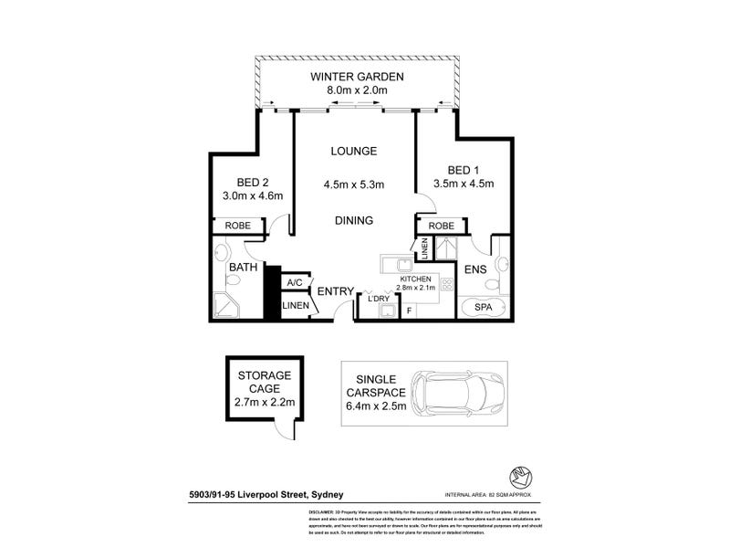 5903/91-95 Liverpool Street, Sydney, NSW 2000 - floorplan