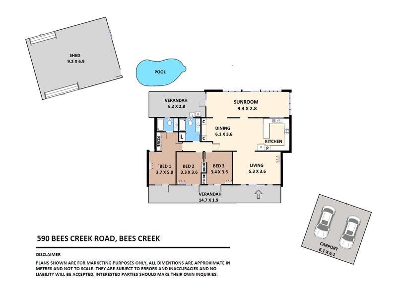 590 Bees Creek Road, Bees Creek, NT 0822 - floorplan