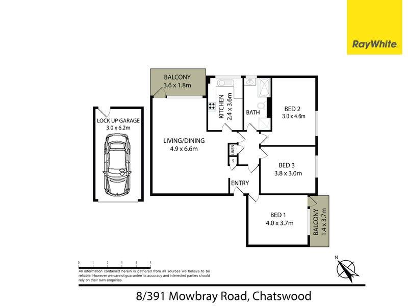 8/391 Mowbray Road, Chatswood, NSW 2067 - floorplan