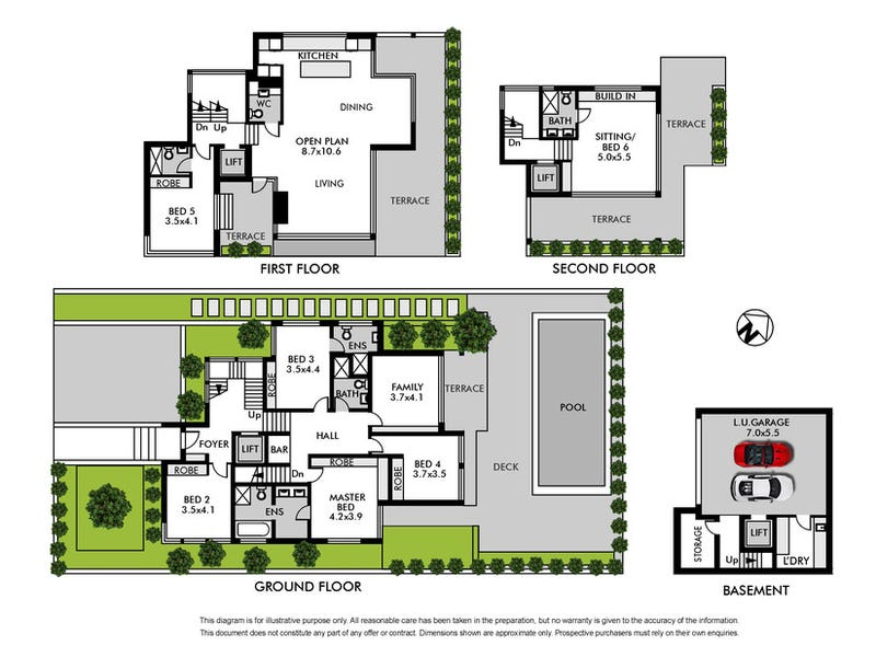 1 Georges Road, Vaucluse, NSW 2030 - floorplan