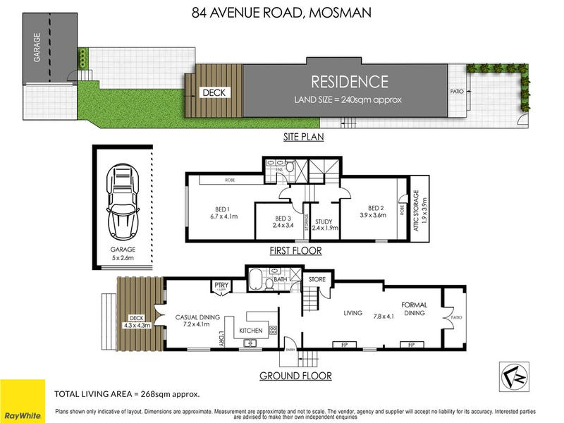 84 Avenue Road, Mosman, NSW 2088 - floorplan