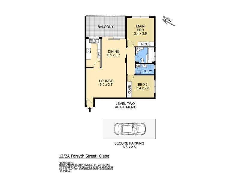 12/2a Forsyth Street, Glebe, NSW 2037 - floorplan
