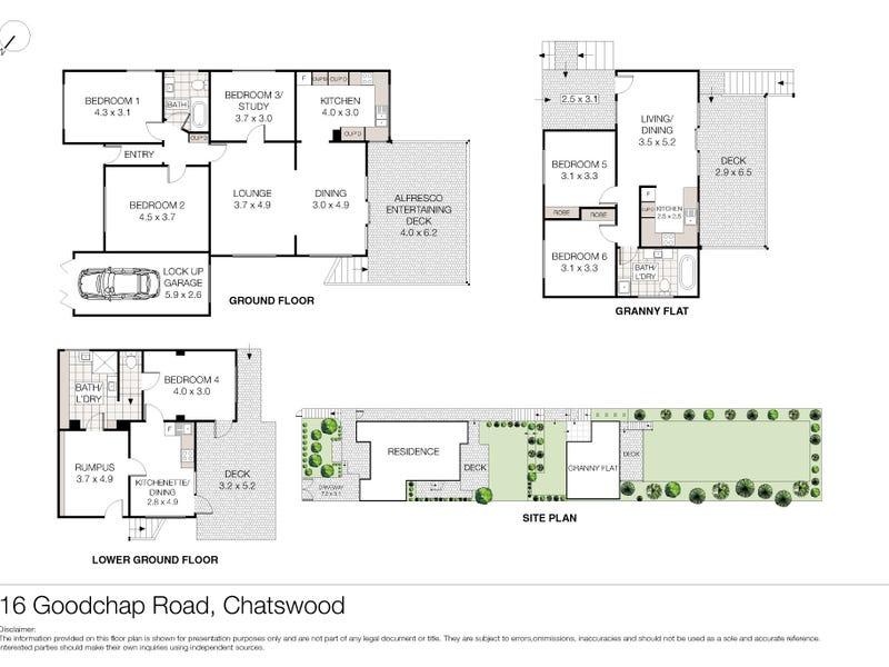 16 Goodchap Road, Chatswood, NSW 2067 - floorplan