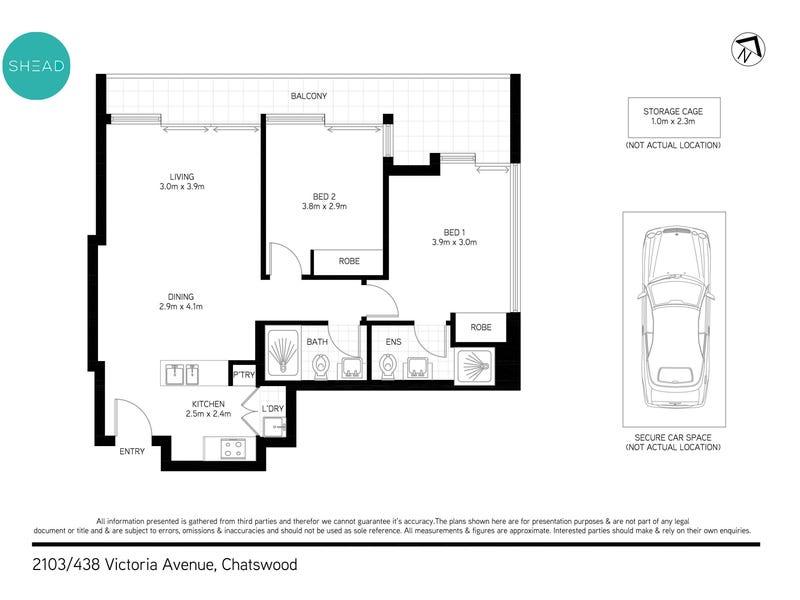2103/438 Victoria Avenue, Chatswood, NSW 2067 - floorplan