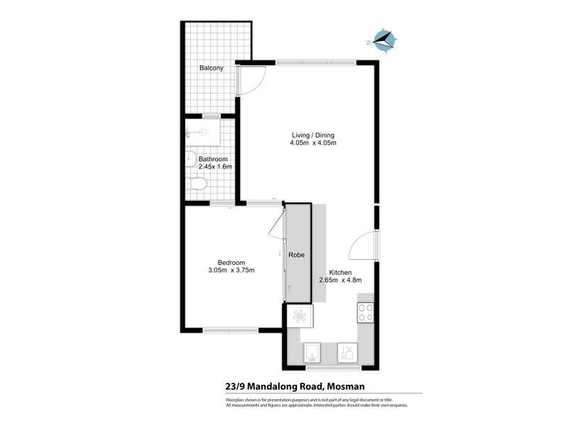 23/9 Mandolong Road, Mosman, NSW 2088 - floorplan