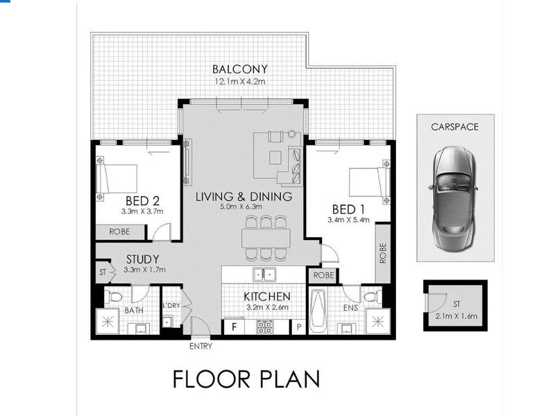 403/16 Shoreline Drive, Rhodes, NSW 2138 - floorplan