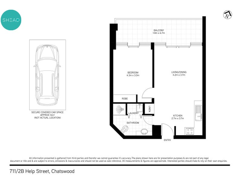 711/2B Help Street, Chatswood, NSW 2067 - floorplan