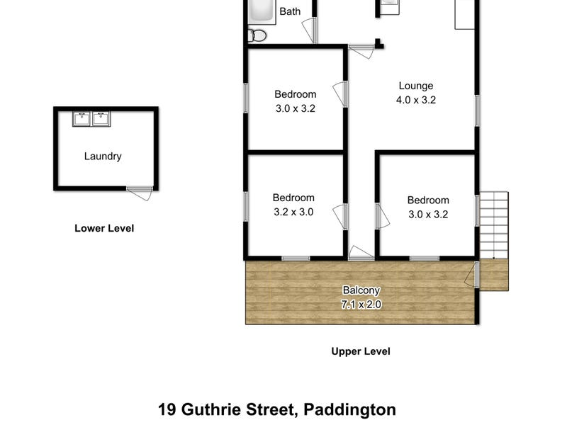19 Guthrie Street, Paddington, Qld 4064 - floorplan