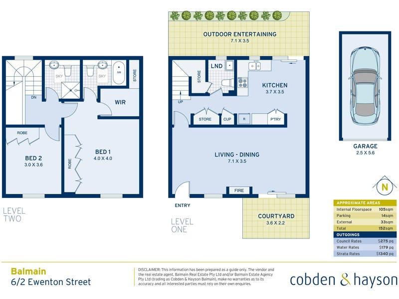 6/2 Ewenton Street, Balmain, NSW 2041 - floorplan