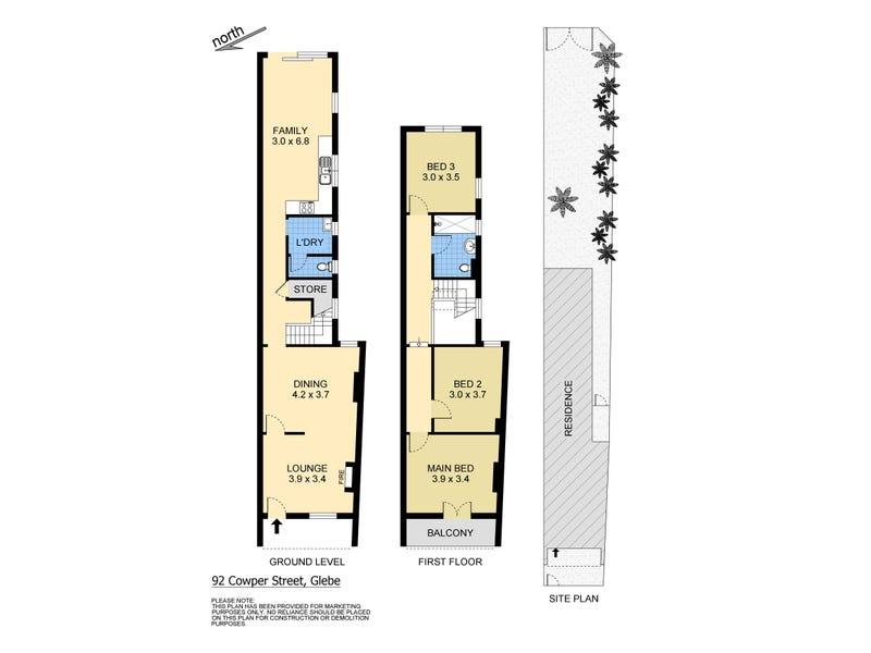 92 Cowper Street, Glebe, NSW 2037 - floorplan