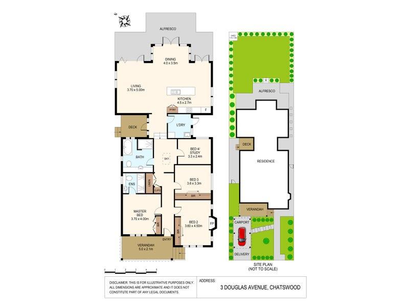 3 Douglas Avenue, Chatswood, NSW 2067 - floorplan