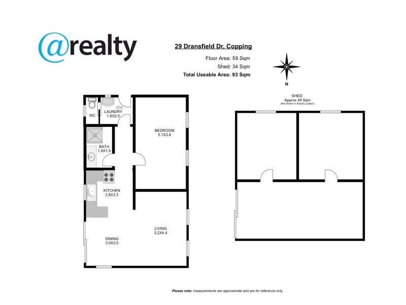 29 Dransfields Road, Copping, Tas 7174 - floorplan