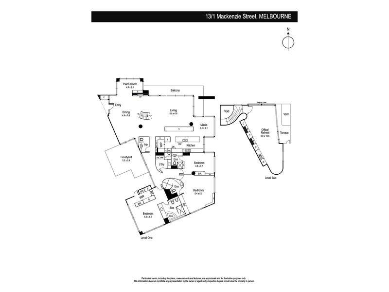 13/1 Mackenzie Street, Melbourne, Vic 3000 - floorplan