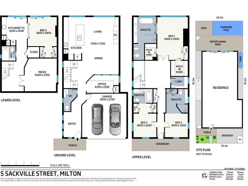 5 Sackville Street, Milton, Qld 4064 - floorplan