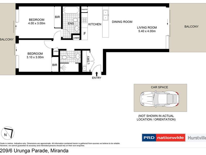 209/6 Urunga Parade, Miranda, NSW 2228 - floorplan