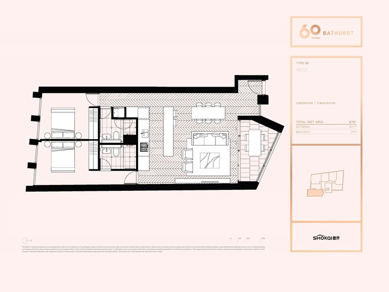 1901/60 Bathurst Street, Sydney, NSW 2000 - floorplan