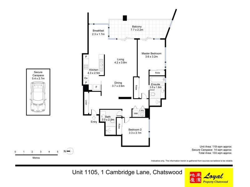 1105/1 Cambridge Lane, Chatswood, NSW 2067 - floorplan