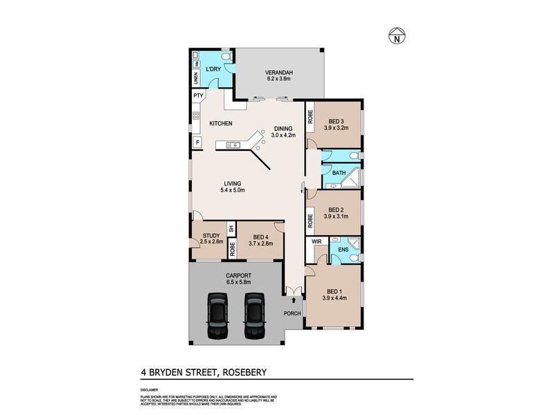 4 Bryden Street, Rosebery, NT 0832 - floorplan