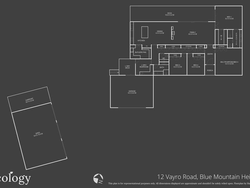 12 Vayro Road, Blue Mountain Heights, Qld 4350 - floorplan