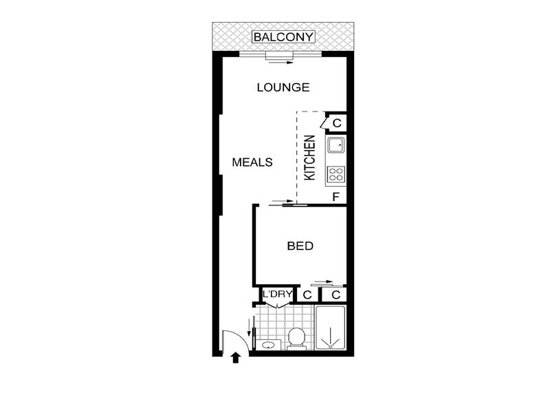 705/17 Singers Lane, Melbourne, Vic 3000 - floorplan